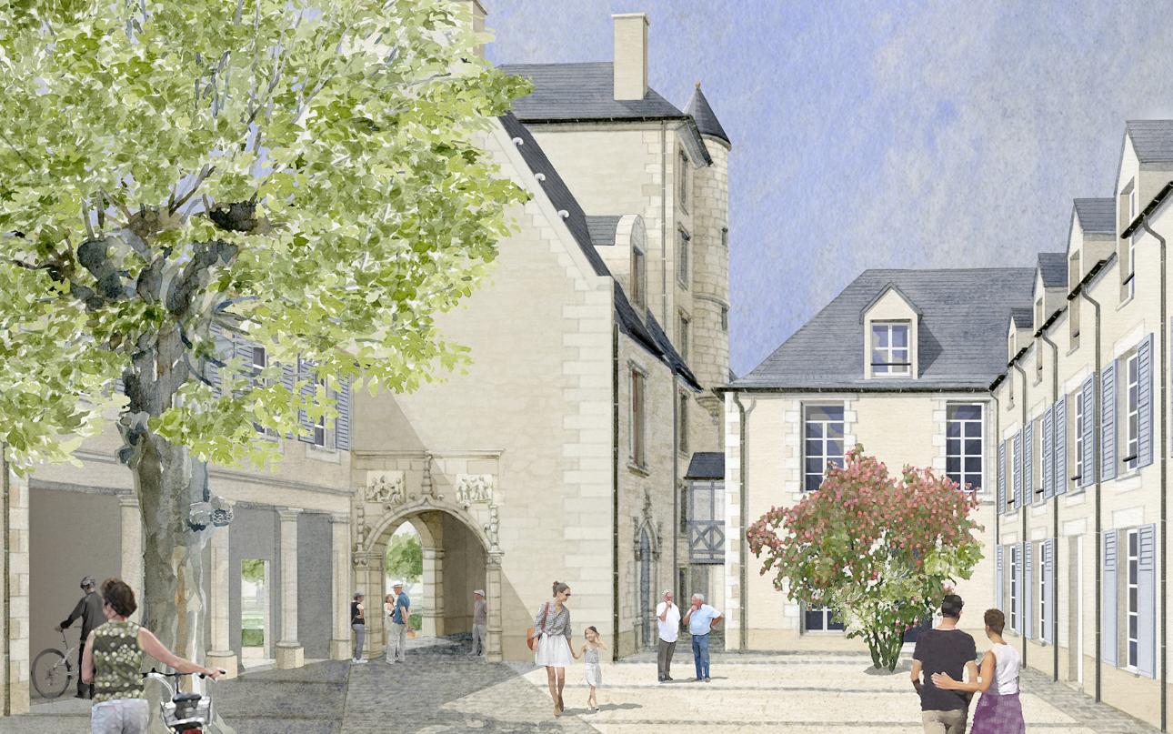 Programme Loi Malraux Rénoné Poitiers Cour Intérieur